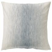 ИСПИГГ Чехол на подушку,синий/естественный